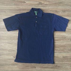 Hugo Boss Men's Blue Polo Shirt Size Medium